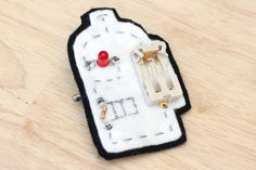 When building wearable electronics, you do not need to stick with wires. Here!! http://www.instructables.com/lesson/Sew-a-Circuit/ #sukar #electronics #wires #DIY