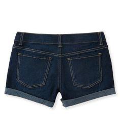 Kids' Dark Wash Denim Shorty Shorts -