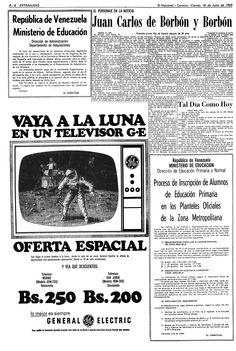 Televisor General Electric. 18-07-1969