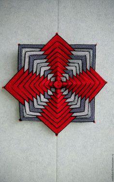 """Купить Мандала """"Жизнестойкость"""" - комбинированный, мандала, мандала индейская, мандала плетеная, оберег, оберег для семьи God's Eye Craft, Guerilla Knitting, Crochet Wall Art, Dream Catcher Mandala, Woolen Craft, Mandala Artwork, Christmas Stencils, Gods Eye, Baby Afghan Crochet"""