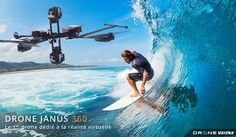 #repost @dronevolt Janus 360 drone The first drone made for virtual reality  Come to our website dronevolt.com #quadcopter #drone #janus360 #vr #virtualreality #gopro #360 #immersive #amazing #interactive #aerial #panoramas #video #4k #angle #up #down #surf #surfer #wave #extremesport #board #fly #camera #madeinfrance #experience #oculus #oculusrift #samsunggear by floweroflys - Shop VR at VirtualRealityDen.com