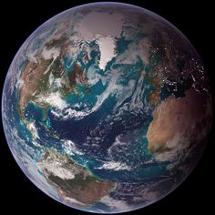 New high-res blue marble image of the north Atlantic Ocean
