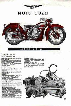 Moto Guzzi Astore Bike Poster, Motorcycle Posters, Motorcycle Engine, Motorcycle Quotes, Moto Guzzi Motorcycles, Cool Motorcycles, Vintage Motorcycles, Super 4, Garage Art