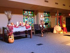 All Saints Day Worship Center Altar 2014. Grace Avenue UMC, Frisco, TX.