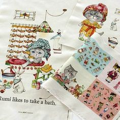Cute Rumi Cat in Bath Linen Cotton Fabric   140cm x 40cm from Reliable linen fabric suppliers on Nana Fabrics $16.30