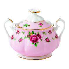 Royal Albert New Country Roses - Vintage Pink Formal Covered Sugar 11.83 oz. - Wedgwood - $59.99