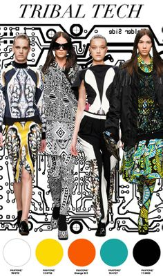 "FW 14/15, women's active trend report, ""Tribal Tech"""