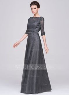 bbedfa1429f32 A-Line Princess Scoop Neck Floor-Length Beading Sequins Zipper Up Sleeves  Sleeves No 2015 Other Colors Spring Summer Fall Winter General Plus Tulle  Lace ...
