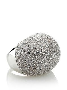 72% OFF Cz by Kenneth Jay Lane Pave Domed Art Deco Ring
