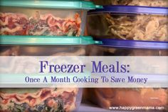 Freezer Meals: Once A Month Cooking To Save Money {Free Printable} - FiveSpotGreenLiving.com