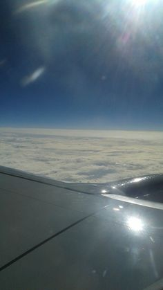 In the air going to Washington DC