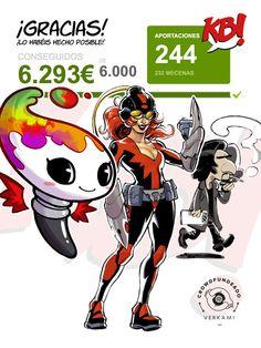 #AUTOEDICION #JORNADAS #COMIC #BARCEONA #CROWDFUNDING  #VERKAMI - Conseguido!! KBOOM! Jornadas Culturales de Cómic y Autoedición de BCN, un evento que se pretende realizar los días 16 y 17 de marzo de 2013 en el espacio cultural La Fontana de la ciudad de Barcelona. Pensado por y para amantes y creadores de todo tipo de cómic.   +INFO: www.kboombcn.com  Campaña crowdfunding verkami www.verkami.com/projects/3158