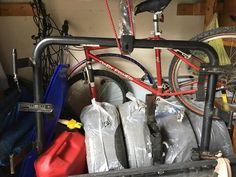 3-bike rack. Has fork mounts, good for road bikes, gravel, mtn, etc. Fits in a 2 inch hitch. Works fine. Will consider any and all offers. Will sell locally in North Jersey/Rockland County, NY area. Photo attached (ignore extraneous stuff in the photo). #rangloo, #bar, #accessories