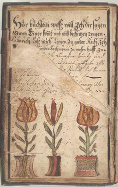 Bookplate (Bücherzeichen) for Catharina Bachman - Fraktur