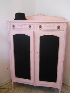 Pink paint & chalkboard paint