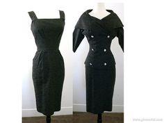 1950's Lilli Ann Black Dress Suit