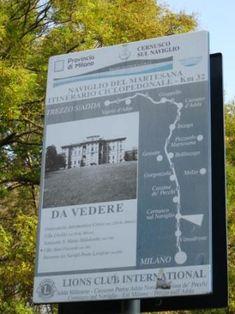 Descrizione e traccia gps di un percorso in bici lungo il Naviglio nei dintorni di Milano.