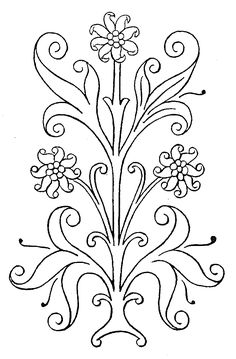 Many embroidery patterns