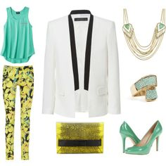 white tuxedo jacket outfit ideas spring | WHAT TO WEAR WEDNESDAY: WHITE TUXEDO JACKET - ... | Spring 2013
