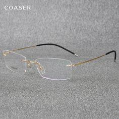 201c536606 Super Light Titanium Eyeglasses Rimless Reading Glasses For Men Women Fit Optical  Prescription Clear Glasses Lens
