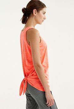 Yoga Soft Knot Back Top