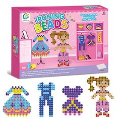 Kids Fused Beads Learning Toys - 826 Pieces of Beads, Tweezers, Peg Boards, Ironing Paper,Card Increative Educational Toys for Girls Boys by Hanmun //Price: $ & FREE Shipping //