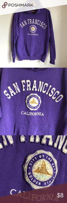San Francisco Purple Golden State Bay Area Hoodie