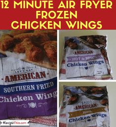 Air Fryer Chicken Wings From Frozen Ways). Here are 3 versions of cooking frozen chicken wings in the air fryer. All your favourite flavours included. Spicy Wings, Chicken Wings Spicy, Air Fryer Chicken Wings, Chicken Wing Recipes, Air Fryer Wings, Air Fryer Fish, Air Fryer Chips, Power Air Fryer Xl, Frozen Chicken Wings