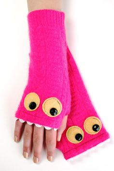Denault Studios - Pink Monster Mitts, Adult, $34.95 (http://www.denaultstudios.com/pink-monster-mitts-adult/)