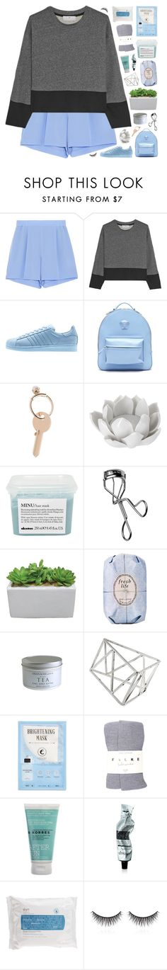"""""""♡ i swear you'll never bring me down"""" by lie-ability ❤ liked on Polyvore featuring STELLA McCARTNEY, adidas, Versace, Maison Margiela, Pavilion Broadway, Davines, Trish McEvoy, Fresh, Topshop and Kocostar"""