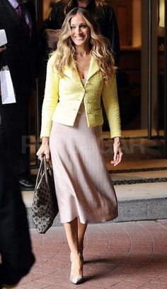 SJP in a great, yellow Chanel blazer.