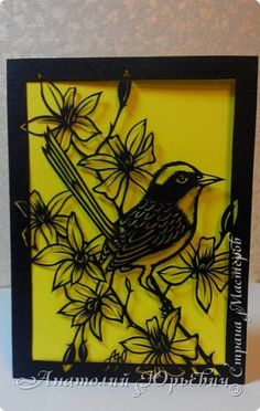 """Малюр"" Kirigami, Bird Patterns, Pet Birds, Paper Cutting, Paper Art, Stencils, Animal, Crafts, Painting"