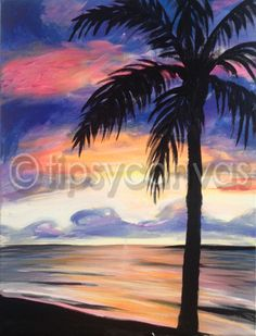 """ideas for an at-home """"tipsy canvas"""" night"""