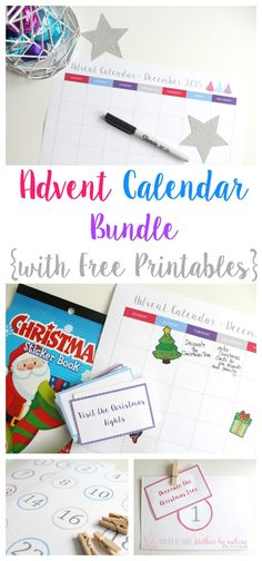 Advent Calendar Bundle {with Free Printables} - Teacher by trade Mother by nature Summer Christmas, Christmas Ideas, Xmas, Holiday, Diy Advent Calendar, Fun Activities To Do, Preschool Christmas, Teacher Blogs, Colour Combinations