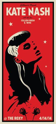 Kate Nash Concert Poster