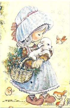 - preciosa tarjeta serie c - Buy Old Postcards of Drawings and Caricatures at todocoleccion - 34489010 Cute Images, Cute Pictures, Children Sketch, Baby Journal, Baby Fairy, Decoupage Vintage, Holly Hobbie, Precious Children, Illustrations