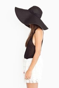 Black wide-brim hat - is this a look I should rock in Miami?