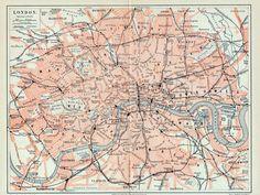 london  1890 german map    awesome