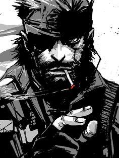 Snake Metal Gear, Big Boss Metal Gear, Metal Gear 3, Game Character, Character Design, Metal Gear Solid Series, Comic Style, Cooler Stil, Metal Gear Rising