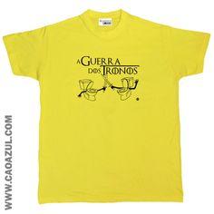 A GUERRA DOS TRONOS t-shirt cão azul