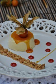 La Cucina di Stagione: Bavarese allo zabaione, caramello all'arancia e crumble di mandorle