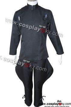 Star Wars Imperial Officer Black Garbardine Uniform Costume-1