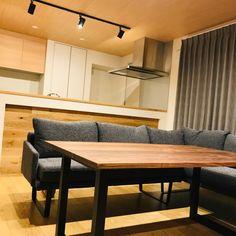新居リビング Home Hacks, Dining Bench, Diy And Crafts, Conference Room, Interior, Table, House, Furniture, Home Decor