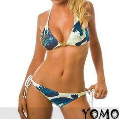 New 2Pcs Patterns Sexy Bikini Triangle Female Swimwear