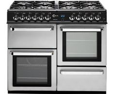 Flavel Aspen 100 AP10FRSP Dual Fuel Range Cooker Freestanding Silver -  £530