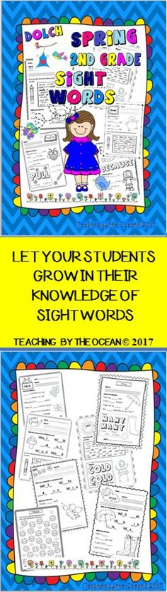 These fun activities are great to use throughout the year for morning work, homework, literacy centers or students that finish early. You can also send them home over the summer for reinforcement and to prevent the summer slip. Students will focus on identifying and reading one sight word at a time.