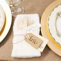 Place Card-Wrapped Napkins