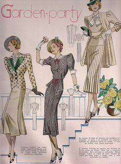 Patterns for Garden Party Outfits from I assume the 40's-50's