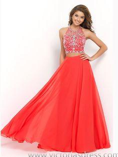 A-line Halter Rhinestone Prom Dresses/Evening Dresses
