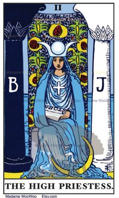 The High Priestess: She has the answers. Are you listening? Look at her honestly and without projections and answers will be revealed.